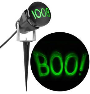 """Лазерный проектор для Хеллоуина проекция """"Boo"""" водостойкий для наружного  использования, фото 2"""