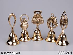 Комплект дзвіночків з 5 штук Stilars 15 см 333-201