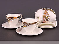 Чайный набор Lefard Золотой узор на 12 предметов 586-030, фото 2
