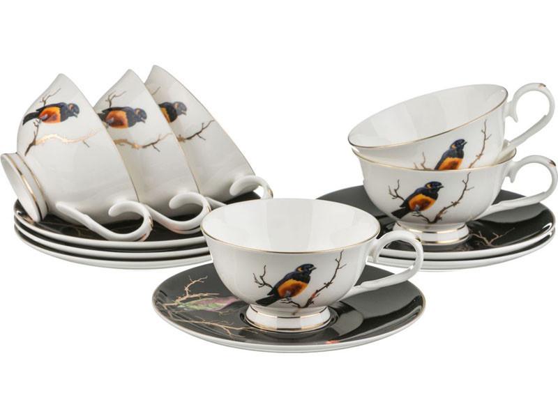 Чайный набор Lefard Золотые птицы на 12 предметов 264-636