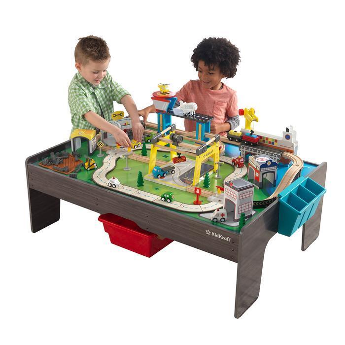 Деревянный стол, железная дорога,KidKraft 18026
