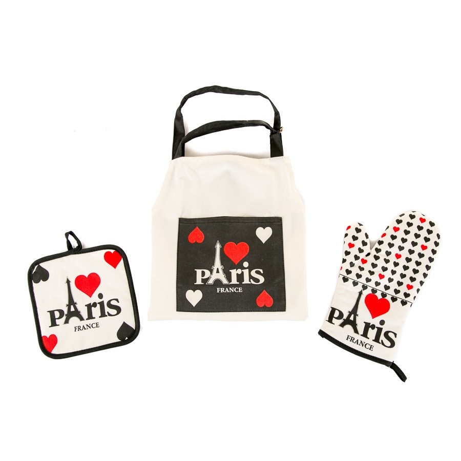 Набор для кухни Lefard Париж (фартук,прихватка,рукавичка) 004HT