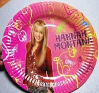Тарелки праздничные Хана Монтана 10 штук