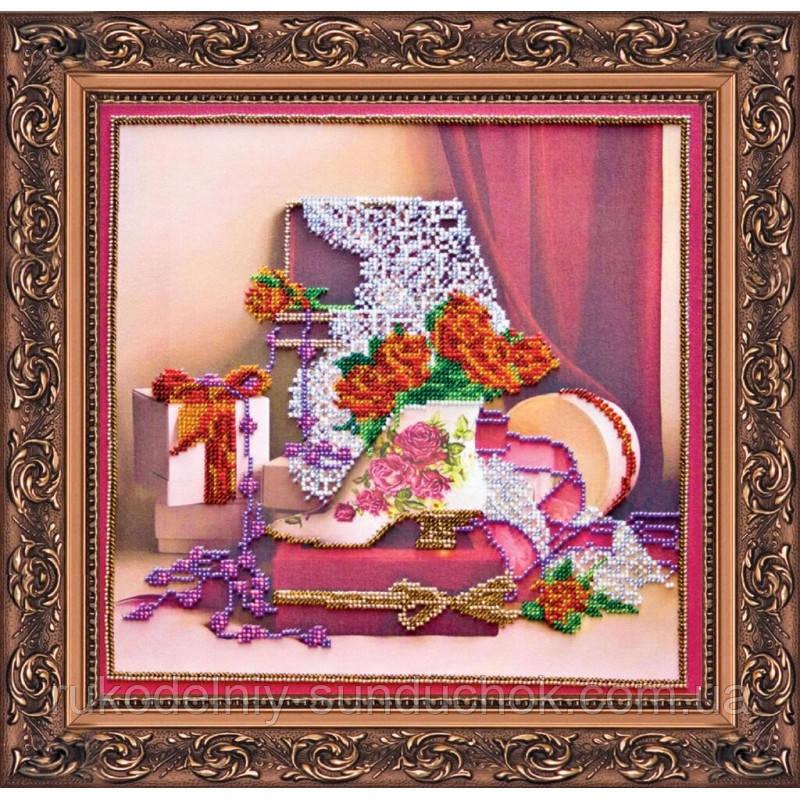 """Набор для вышивания бисером на холсте АбрисАрт """"Дамские штучки"""" АВ-136"""