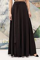 Женская юбка в пол с разрезом, черная. Размеры: S-42, M-44.