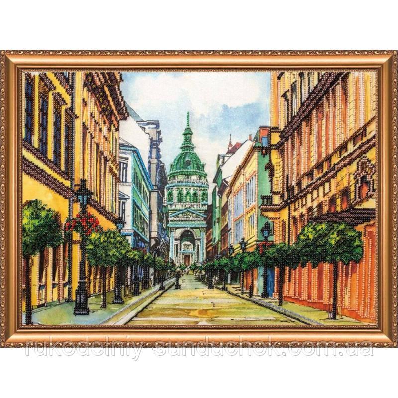 "Набор для вышивания бисером на холсте АбрисАрт ""Будапешт"" АВ-142"
