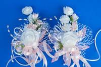Персиковые бутоньерки на свадьбу №4