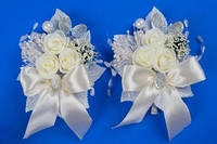 Бежевые бутоньерки на свадьбу №33