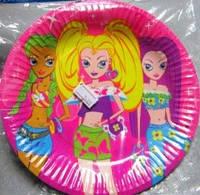 Тарілочка святкова одноразова для дівчаток