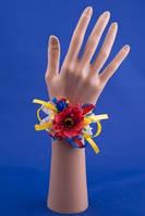 Украинская бутоньерка-браслет на руку №24