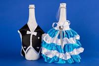 Бирюзовое украшение для шампанского №8