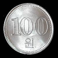 Монета Северной Кореи 100 вон 2005 г.