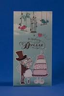 Поздравительная открытка на свадьбу с кармашком №3