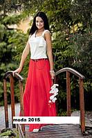 Длинные юбки с шифона с косынкой Натали