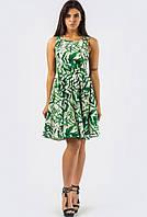 Платье KP-10150-3, (Бело-зеленый)