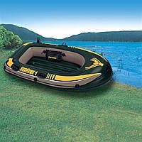 Одноместная надувная гребная лодка Intex 193х108см Интекс 68345