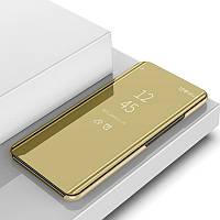 Чехол Mirror для Samsung Galaxy J7 2016 J710 книжка зеркальный gold