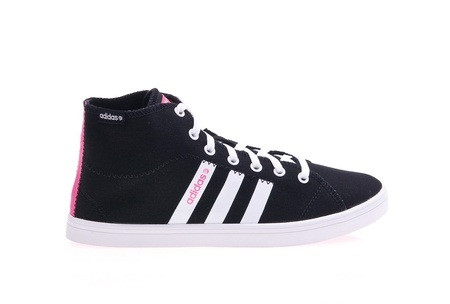 Кроссовки женские Adidas Vlneo Bball Mid W X73696 (черные, повседневные, текстиль, кеды высокие, бренд адидас)