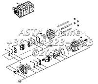 Насос, гидравлический, ХЕМА, ( 37/29 куб. см/об ) Е2-5-1-ОР1