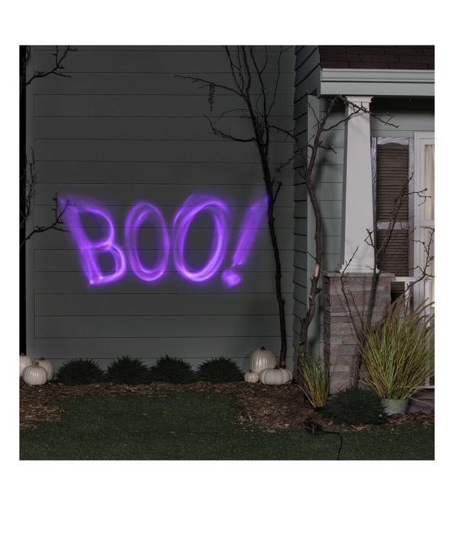 """Лазерный проектор для Хеллоуина проекция """"Boo"""""""