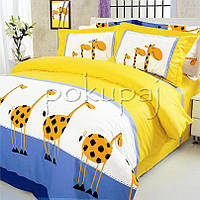 Постельное белье ТЕП двуспальное 180*215 жирафы 604