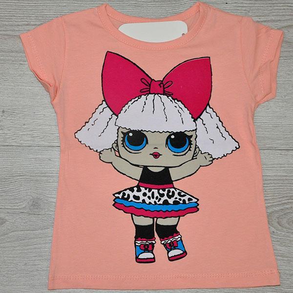 Летняя трикотажная футболка LOL, для девочек ростом 86-128 см, 1-8 лет  (4 ед. в уп.)