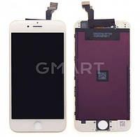 Дисплей APPLE IPHONE 6 + Сенсор (тачскрин) / Экран на Айфон 6 белый (LCD High Copy), Дисплей iPhone 6 білий (LCD екран, тачскрін, скло в зборі)