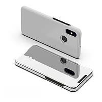 Чехол Mirror для Xiaomi Redmi Note 5 / Note 5 Pro книжка зеркальный Silver