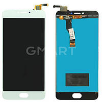 Дисплей для Meizu M3 Note (L681H) белый (LCD экран, тачскрин, стекло в сборе), Дисплей Meizu M3 Note (L681H) білий (LCD екран, тачскрін, скло в зборі)
