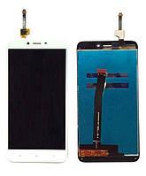 Дисплей для Xiaomi Redmi 4X белый (LCD экран, тачскрин, стекло в сборе), Дисплей Xiaomi Redmi 4X білий (LCD екран, тачскрін, скло в зборі)
