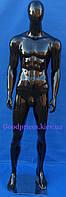 Манекен мужской чёрный лакированный