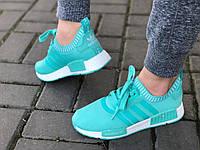 Яркие женские кроссовки бирюза 38р  полномерные, фото 1