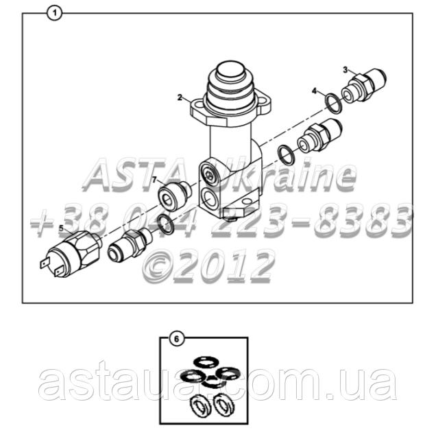 Клапан, с одиночной педали тормоза Е2-9-1-ОР1