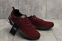 Бордовые мужские кроссовки весенние M 641-8 (Baas) весна/осень