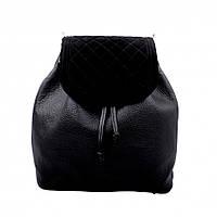 Сумка-рюкзак женская Valenta кожаная Черная (ВЕ618881)