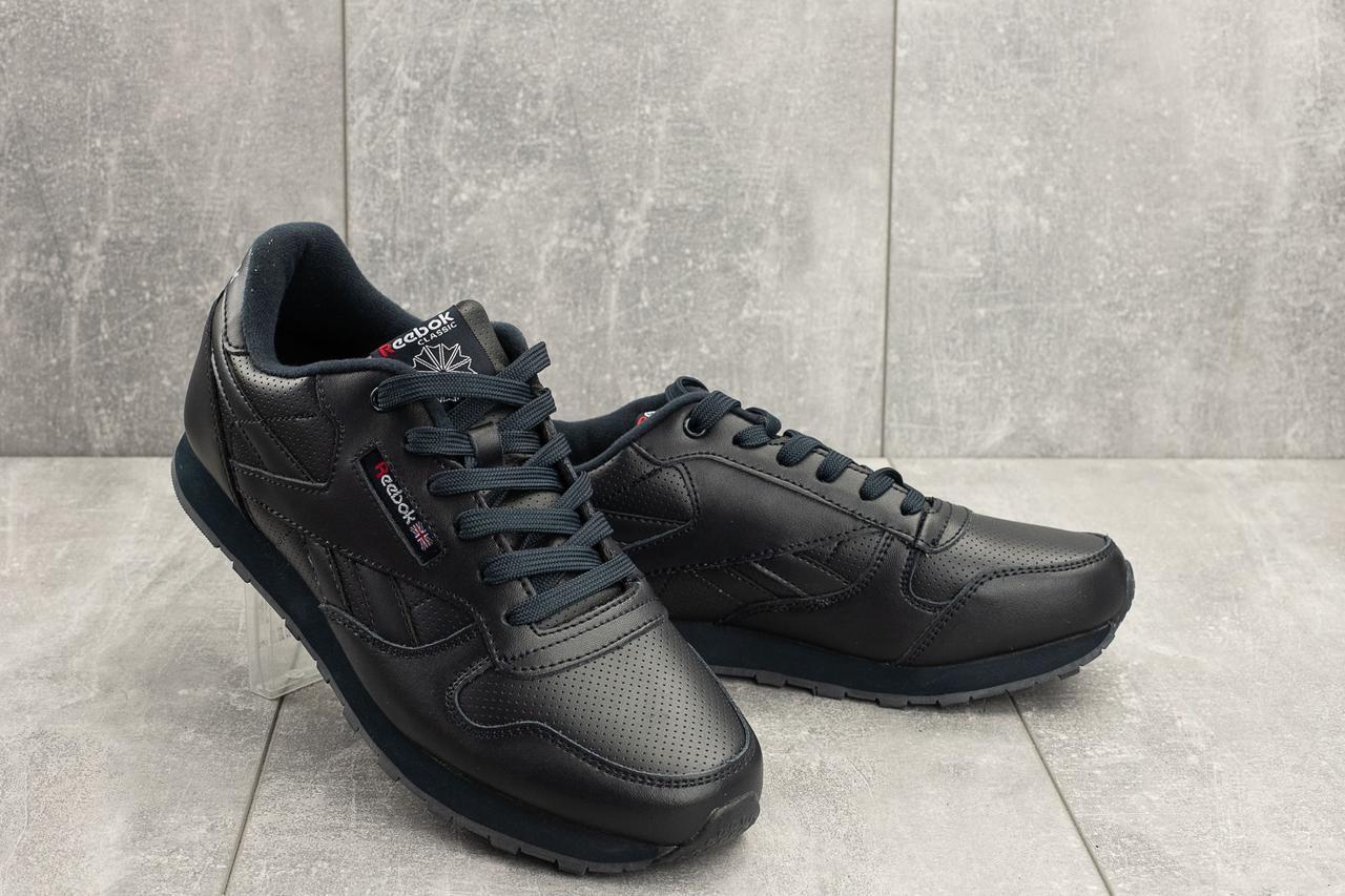 e5afd4663 Мужские кроссовки Reebok кожаные весенние синие G 5097 -2 (Reebok Classic)  весна/