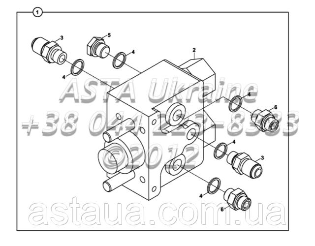 Клапан, с двойной педаль тормоза Е2-9-1-ЕП2/01