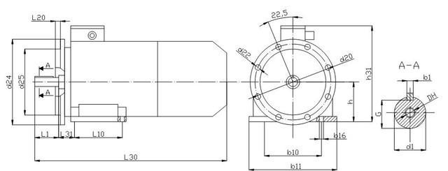 Электромотор АИР 180 M4