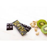 Шоколад со спирулиной, киви и фисташками (на кэробе), Живая кухня, 25 г