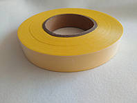 Текстильная светоотражающая лента желтая для одежды МЧС 100 метров