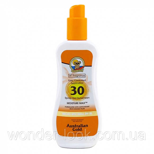 Спрей-гель Australian Gold Spray Gel Sunscreen Clear Moisture Max SPF 30