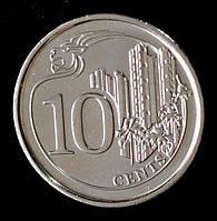 Монета Сингапура 10 центов 2013 г.