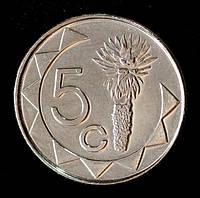 Монета Намибии 5 центов 2012 г.