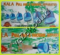 Вакуумные антицеллюлитные массажные банки 6 штук с насосом Kala pull out vacuum apparatus