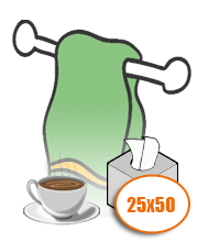 Полотенца кухонные 25х50