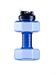Фитнес бутылка для воды в виде гантели 2 в 1! Спортивная бутылка, шейкер. Аквагантели Синие., фото 2