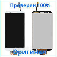 Оригинальный дисплей LG G2 D802 белый (LCD экран, тачскрин, стекло в сборе), Оригінальний дисплей LG G2 D802 білий (LCD екран, тачскрін, скло в зборі)