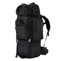 Тактический плечевой рюкзак 65 литров для охоты, рыбалки, туризма | Черный, фото 1