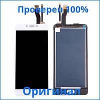 Оригинальный дисплей Meizu M5 Note белый (LCD экран, тачскрин, стекло в сборе), Оригінальний дисплей Meizu M5 Note білий (LCD екран, тачскрін, скло в
