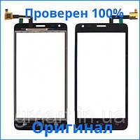 Сенсорный экран Fly IQ456 Era Life 2 черный (тачскрин, стекло в сборе), Сенсорний екран Fly IQ456 Era Life 2 чорний (тачскрін, скло в зборі)